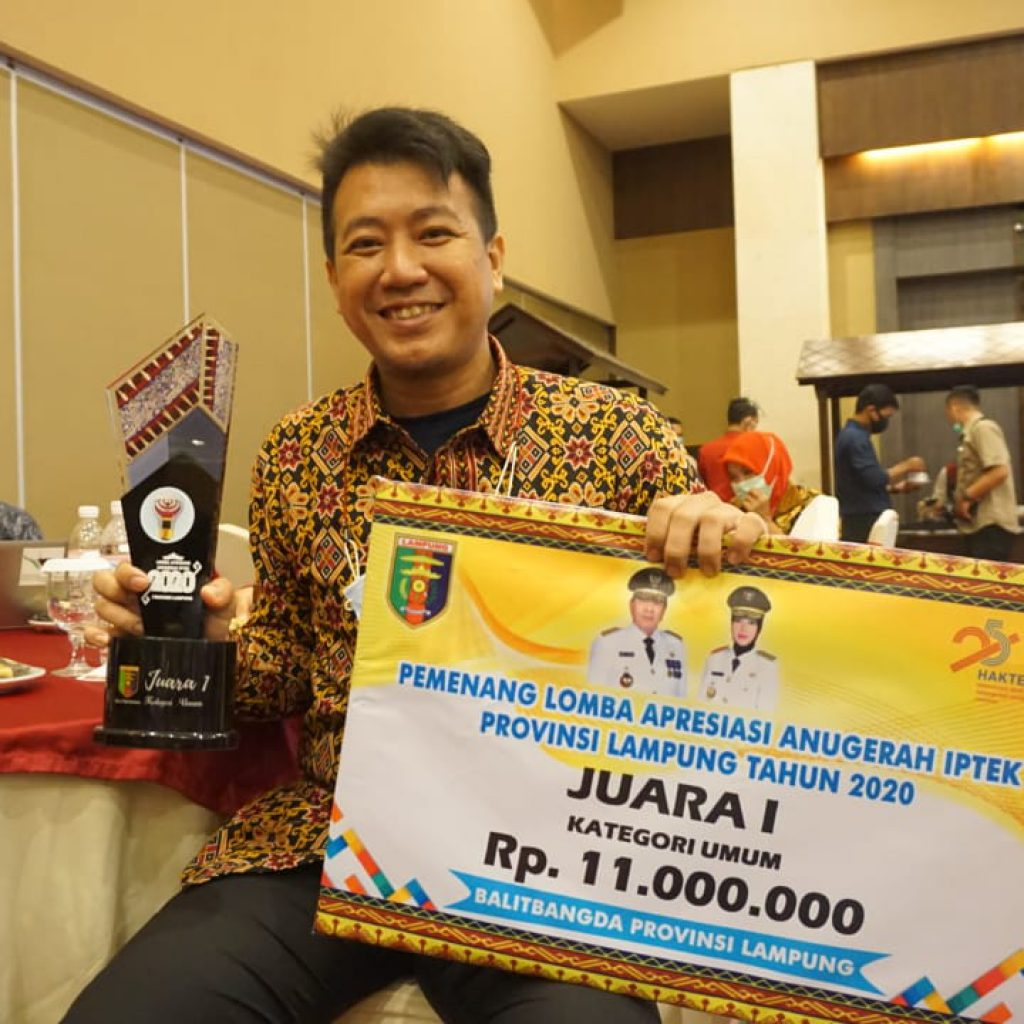 Dosen Universitas Teknokrat Indonesia Juara Lomba Apresiasi Anugerah IPTEK 2020